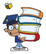an_african_american_boy_carrying_a_book_stack_while_wearing_a_graduation_cap_0521-1005-0821-5437_smu